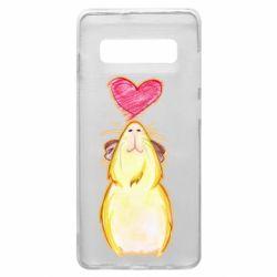 Чохол для Samsung S10+ Морська свинка і сердечко