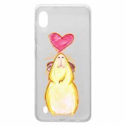 Чохол для Samsung A10 Морська свинка і сердечко
