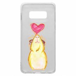 Чохол для Samsung S10e Морська свинка і сердечко