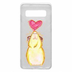 Чохол для Samsung S10 Морська свинка і сердечко