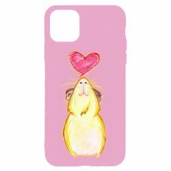 Чохол для iPhone 11 Морська свинка і сердечко