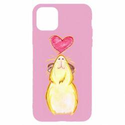 Чохол для iPhone 11 Pro Max Морська свинка і сердечко