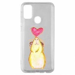 Чохол для Samsung M30s Морська свинка і сердечко