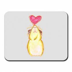 Килимок для миші Морська свинка і сердечко