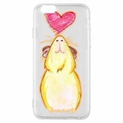 Чохол для iPhone 6/6S Морська свинка і сердечко
