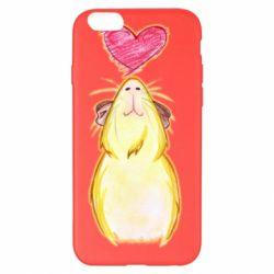Чохол для iPhone 6 Plus/6S Plus Морська свинка і сердечко