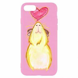Чохол для iPhone 7 Морська свинка і сердечко