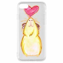 Чохол для iPhone 8 Морська свинка і сердечко