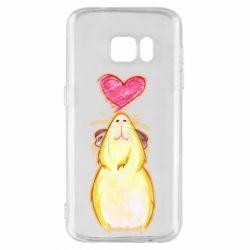 Чохол для Samsung S7 Морська свинка і сердечко