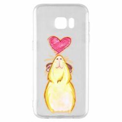 Чохол для Samsung S7 EDGE Морська свинка і сердечко