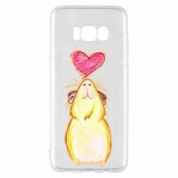 Чохол для Samsung S8 Морська свинка і сердечко