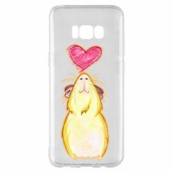 Чохол для Samsung S8+ Морська свинка і сердечко