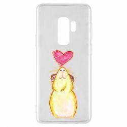 Чохол для Samsung S9+ Морська свинка і сердечко