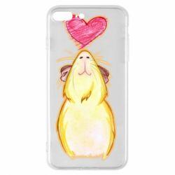 Чохол для iPhone 8 Plus Морська свинка і сердечко