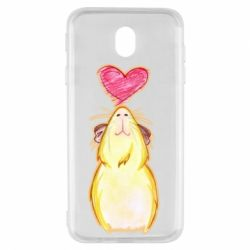 Чохол для Samsung J7 2017 Морська свинка і сердечко