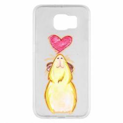Чохол для Samsung S6 Морська свинка і сердечко