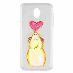 Чохол для Samsung J5 2017 Морська свинка і сердечко