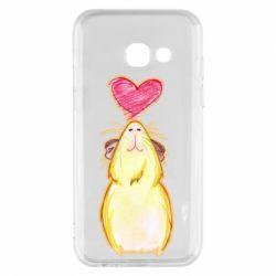 Чохол для Samsung A3 2017 Морська свинка і сердечко