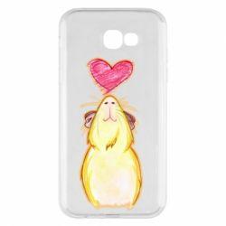 Чохол для Samsung A7 2017 Морська свинка і сердечко