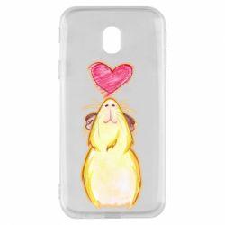 Чохол для Samsung J3 2017 Морська свинка і сердечко