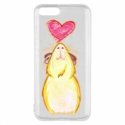 Чохол для Xiaomi Mi6 Морська свинка і сердечко