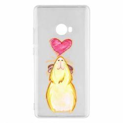 Чохол для Xiaomi Mi Note 2 Морська свинка і сердечко