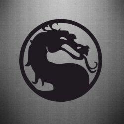 Наклейка Mortal Combat