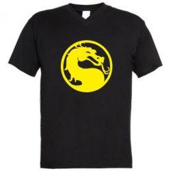 Мужская футболка  с V-образным вырезом Mortal Combat - FatLine