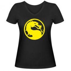 Женская футболка с V-образным вырезом Mortal Combat - FatLine