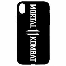 Чехол для iPhone XR Mortal kombat 11 logo