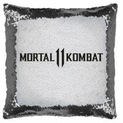 Подушка-хамелеон Mortal kombat 11 logo