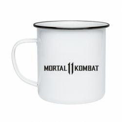 Кружка емальована Mortal kombat 11 logo