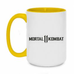 Кружка двухцветная 420ml Mortal kombat 11 logo