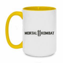 Кружка двоколірна 420ml Mortal kombat 11 logo