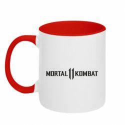 Кружка двоколірна 320ml Mortal kombat 11 logo