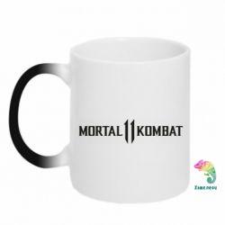 Кружка-хамелеон Mortal kombat 11 logo