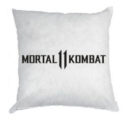 Подушка Mortal kombat 11 logo