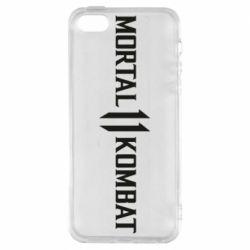 Чехол для iPhone5/5S/SE Mortal kombat 11 logo