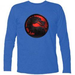 Купить Футболка с длинным рукавом Mortal Kombat Logo, FatLine