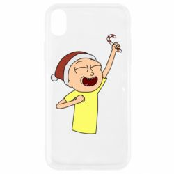 Чехол для iPhone XR Morty with Christmas candy