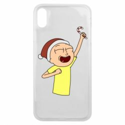 Чехол для iPhone Xs Max Morty with Christmas candy