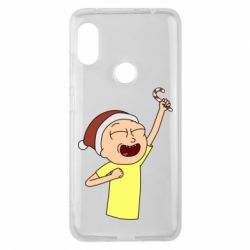 Чехол для Xiaomi Redmi Note 6 Pro Morty with Christmas candy