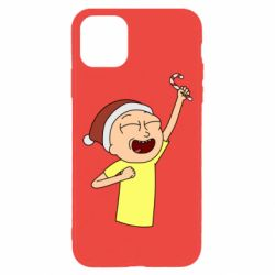 Чехол для iPhone 11 Pro Morty with Christmas candy