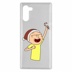 Чехол для Samsung Note 10 Morty with Christmas candy