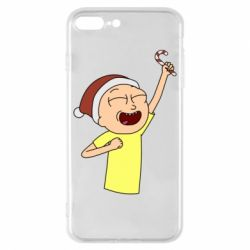 Чехол для iPhone 8 Plus Morty with Christmas candy