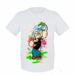 Детская футболка Моряк Папай Арт