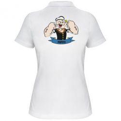 Женская футболка поло Моряк Папай - FatLine
