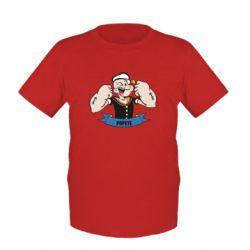 Детская футболка Моряк Папай - FatLine