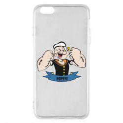 Чехол для iPhone 6 Plus/6S Plus Моряк Папай