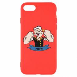 Чехол для iPhone 8 Моряк Папай